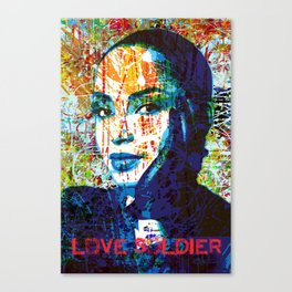 Love Soldier Canvas Print