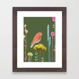 en chemin (kaki) Framed Art Print