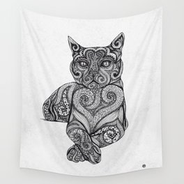 Zentangle Cat Wall Tapestry