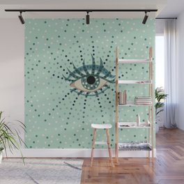 Abstract Eye With Dots Wall Mural