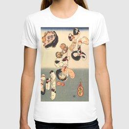 Cats forming the Characters for Catfish by Utagawa Kuniyoshi T-shirt