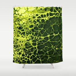 Cells - Slime Green Shower Curtain