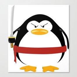 Ninja Penguin Canvas Print