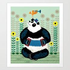 Panda Piazzolla and The Trumpet Bird Art Print