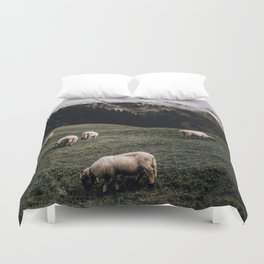 Sheep II / Bavarian Alps Duvet Cover