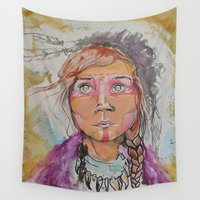 courage Wall Tapestries featuring Courage by dan black