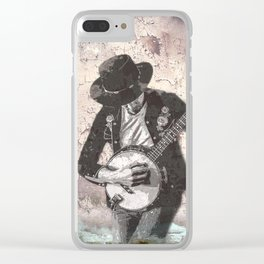 Spray Paint - Banjo Player Clear iPhone Case