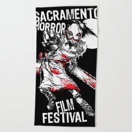 Slashy 2018 Sacramento Horror Film Festival mascot Beach Towel