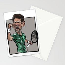 Caricature of the Stars - Novak Djokovic Stationery Cards