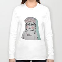 yolo Long Sleeve T-shirts featuring Yolo  by Agnes Emilia