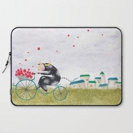 Vaca en bici! Laptop Sleeve