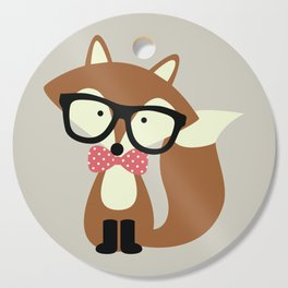 Glasses and Bow Tie Hipster Brown Fox Cutting Board