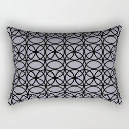 Pantone Lilac Gray and Black Rings Circle Heaven 2, Overlapping Ring Design Rectangular Pillow
