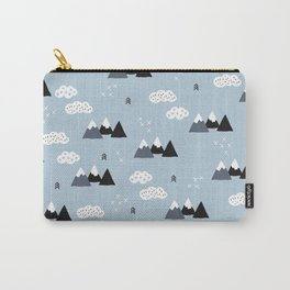 Cool winter wonderland snow Fuji Mountain geometric illustration pattern Carry-All Pouch