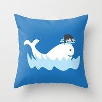 surf Throw Pillows featuring Surf by Hagu