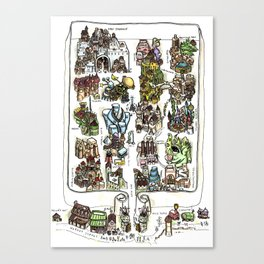The Lost City of Forgotten Gods Canvas Print