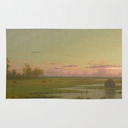Martin Johnson Heade - Salt Marsh At Southport  Connecticut Rug