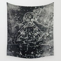 goddess Wall Tapestries featuring Goddess by Audrey Kim