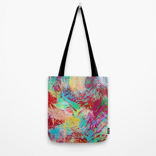REEF STORM - Fun Bright BOLD Playful Rainbow Colors Underwater Ocean Reef Theme Coral Aquatic Life Tote Bag