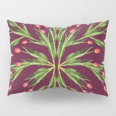 Burgundy and tulips Pillow Sham