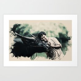 Wildlife Series - The bread earners Art Print