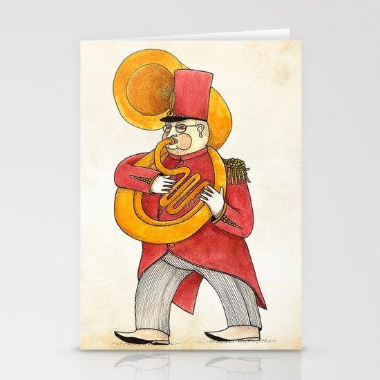 García, tuba Stationery Cards