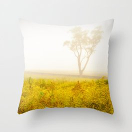 Dreams of Goldenrod and Fog Throw Pillow