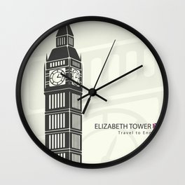 Elizabeth tower clock big Ben in London Wall Clock