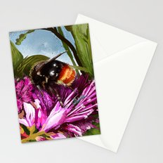 Bee on flower 9 Stationery Cards