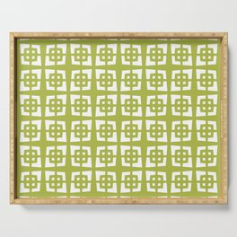 Mid Century Modern Pattern 271 Chartreuse Serving Tray