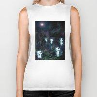 kodama Biker Tanks featuring Princess Mononoke - The Kodama by pkarnold + The Cult Print Shop