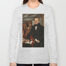 Vermont Lawyer Oil Painting by Horace Bundy Long Sleeve T-shirt