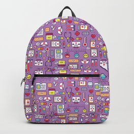 Proud To Be a Nurse Pattern / Purple Backpack