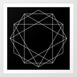 Poly Constellation Outline Art Print