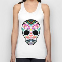 mexican Tank Tops featuring Mexican Skull by Blank & Vøid