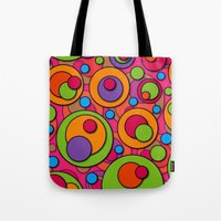 polka dots Tote Bags featuring Polka Dots by Shelly Bremmer