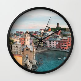 Vernazza, Italy (Portrait) Wall Clock