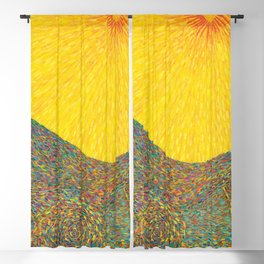 Here Comes the Sun - Van Gogh impressionist abstract Blackout Curtain