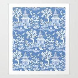 Chinoiserie Pagoda Art Print