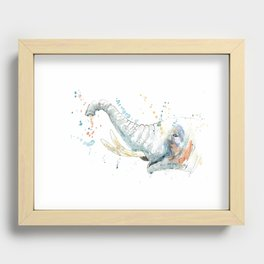 Splashy Elephant Recessed Framed Print