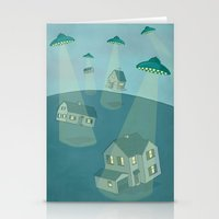 ufo Stationery Cards featuring UFO by Banessa Millet