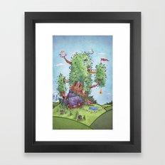 Ode to Finn and Jake Framed Art Print