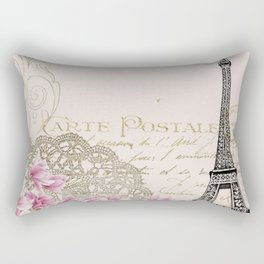 Ooh La La Parisian Eiffel Tower by Saletta Home Decor Rectangular Pillow