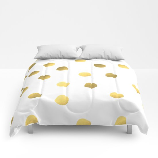 Painted spots of gold Comforters