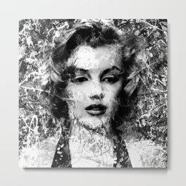 MONROE (BLACK & WHITE VERSION) Metal Print