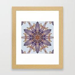 Passion Flower Mandala Framed Art Print