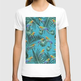 Parrots in the Tropical Jungle #2 #tropical #decor #art #society6 T-shirt