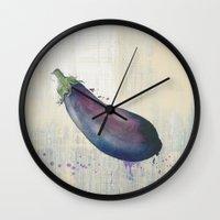 kitchen Wall Clocks featuring KITCHEN by Kath Korth