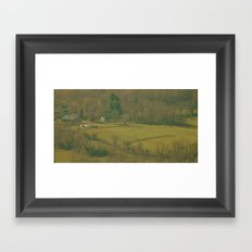 Horse Farm (View from the Mountain Top) Framed Art Print