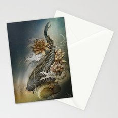 Koi and Lotus Stationery Cards